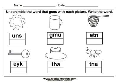 3 Letter Words Worksheets Printable Choice Image