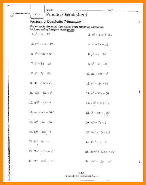 8+ Factor Polynomials Worksheet