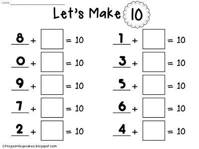 93 Best School   Math  Making 10 Images On Free Worksheets Samples