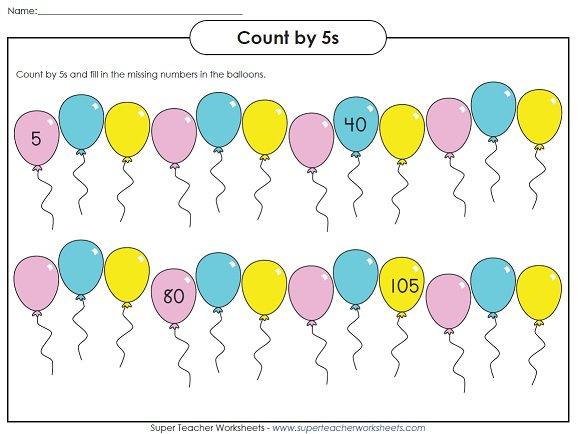 A Skip Counting Worksheet