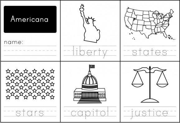 Americana Handwriting Practice Worksheet