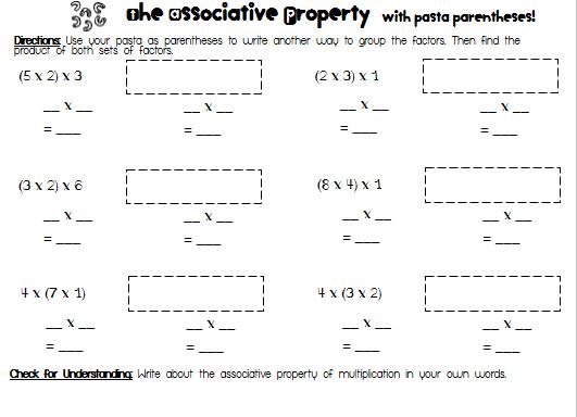Associative Property Of Multiplication Worksheets 3rd Grade Free