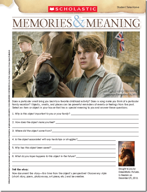 Behind The Movie  Scholastic War Horse Teaching Guide