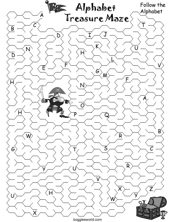 Boggle's World  Alphabet Mazes