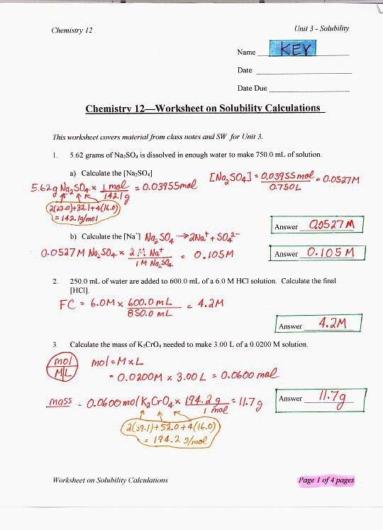 Chemistry Ph And Poh Calculations Worksheet Free Worksheets