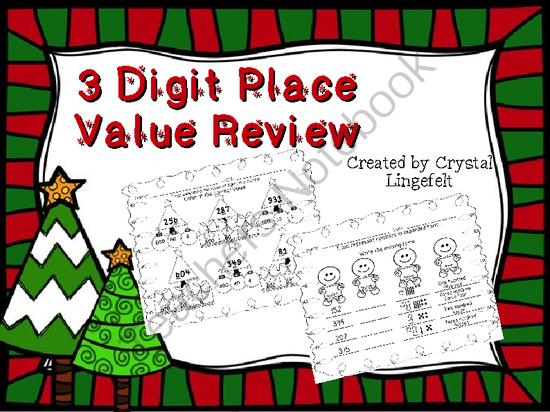 Christmas 3 Digit Place Value Worksheets From Monkey_lady On