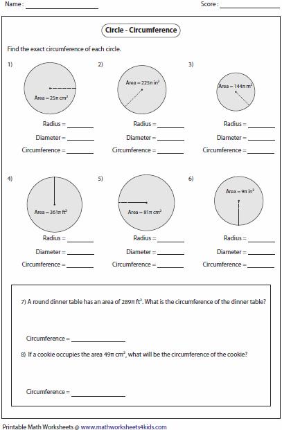 Circumference Worksheet Pdf Free Worksheets Library