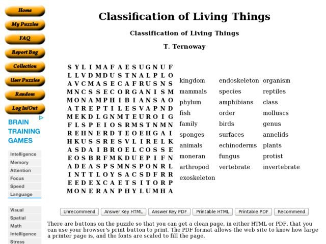 Classification Of Life Worksheet Free Worksheets Library