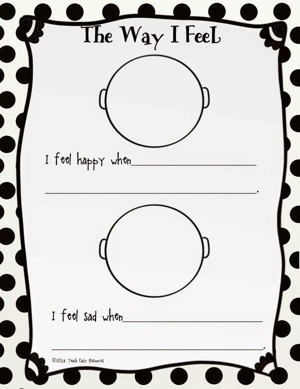 Classroom Freebies Too  Feelings Worksheet And Mini