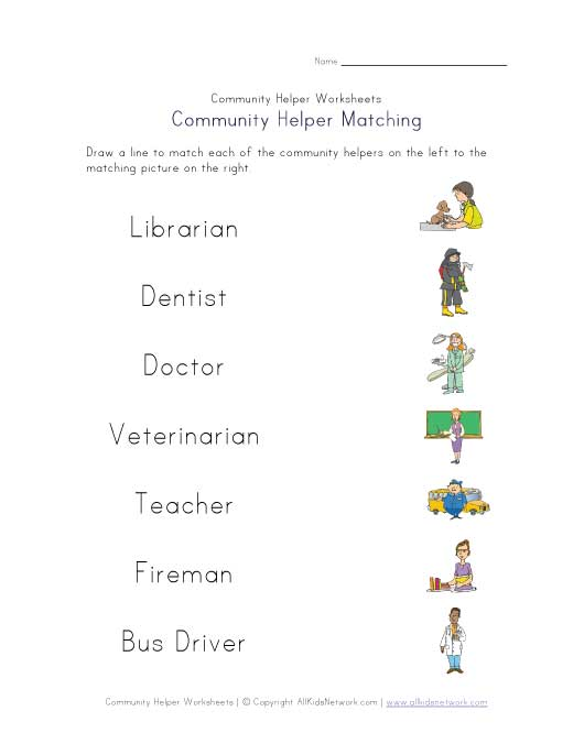 Community Helpers Worksheets Free Worksheets Library