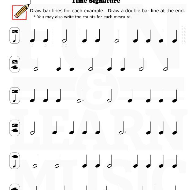 Easy Time Signature Worksheet!