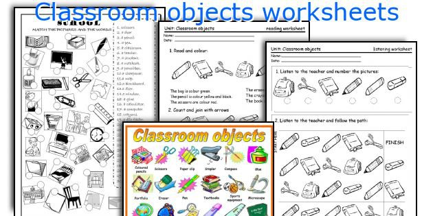 English Teaching Worksheets  Classroom Objects