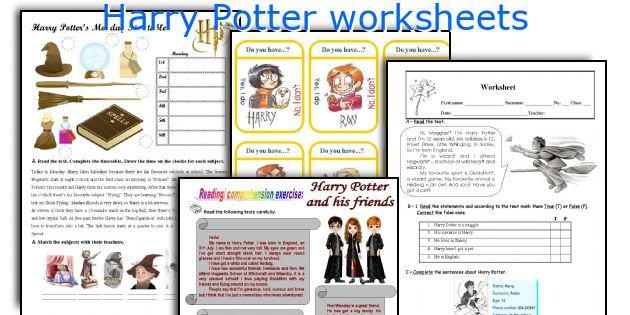 English Teaching Worksheets  Harry Potter