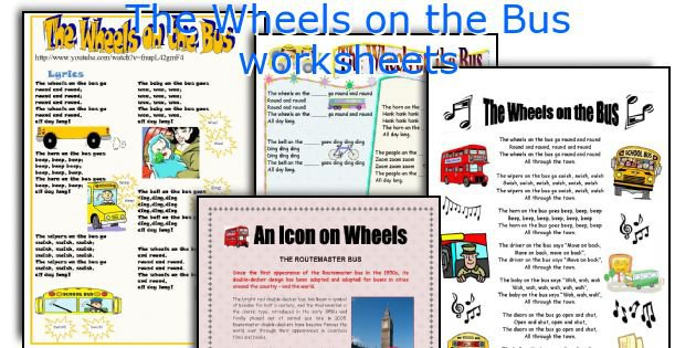 English Teaching Worksheets  The Wheels On The Bus