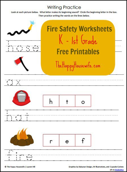 Fire Safety Worksheets  Free Printables