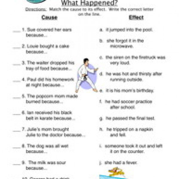 First Grade Cause And Effect Worksheets Free Worksheets Library
