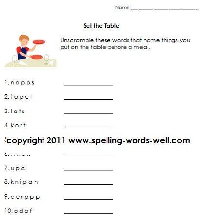 First Grade Language Arts Worksheets