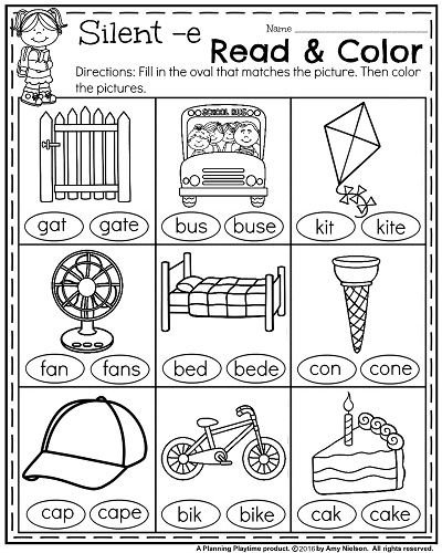 First Grade Reading Coloring Worksheetskids Coloring Pages