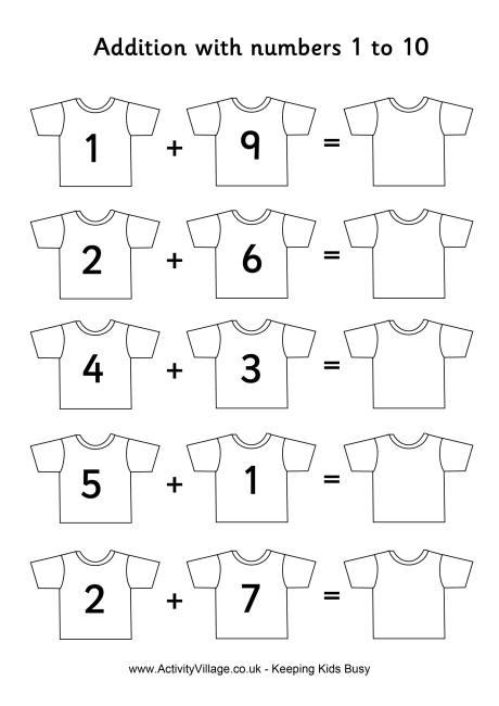 Football Shirts Addition 1 To 10