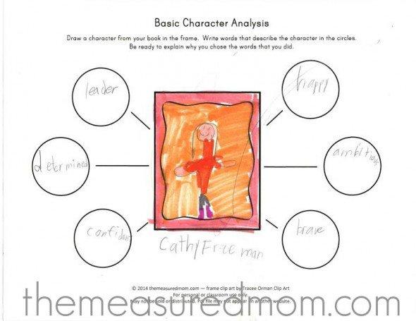 Free Character Analysis Worksheet For Kids