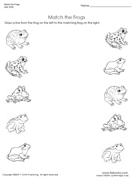 Free Matching Objects Worksheets For Preschoolers