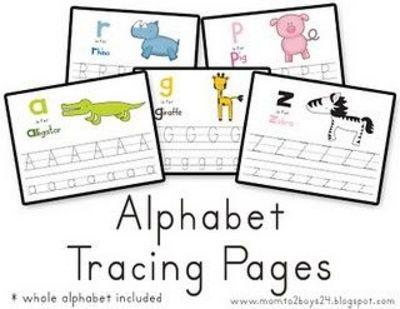 Free Printable Alphabet Worksheets   Preschool Items