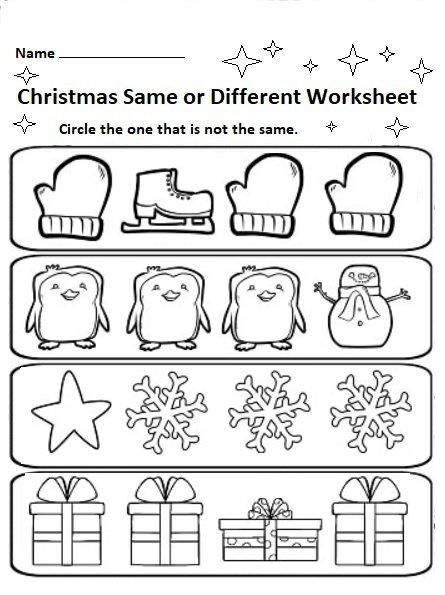 Free Printable Christmas Worksheets For Preschool