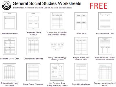 Free Social Studies Reproducibles & Worksheets