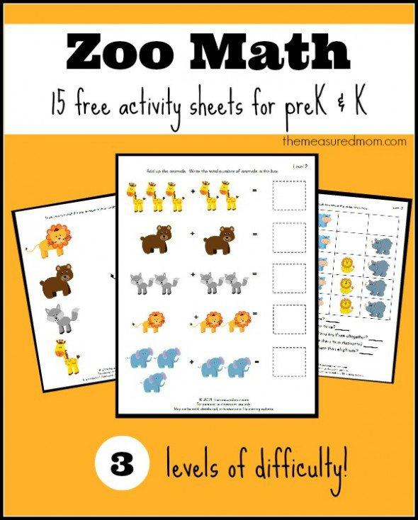 Free Zoo Worksheets For Preschool And Kindergarten