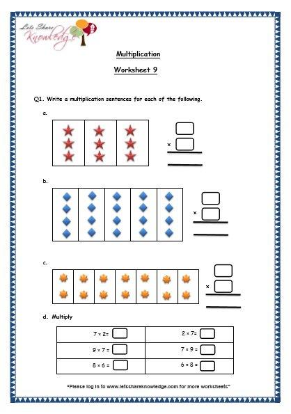 Grade 3 Maths Worksheets (5 1 Multiplication [0