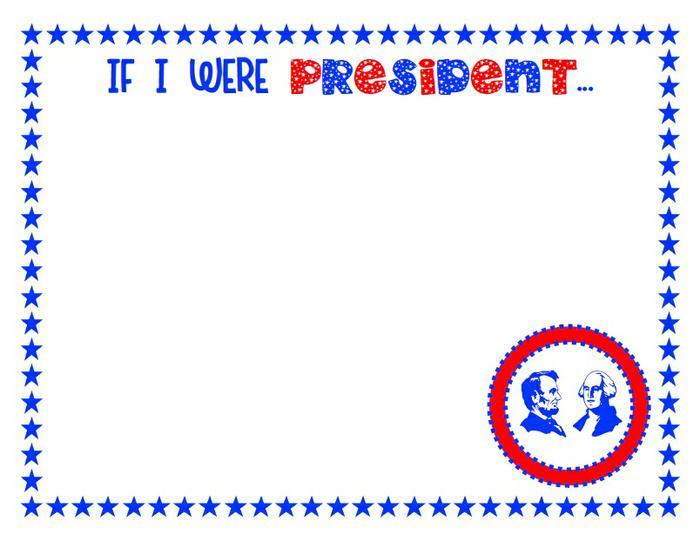 If I Were President Drawing Page