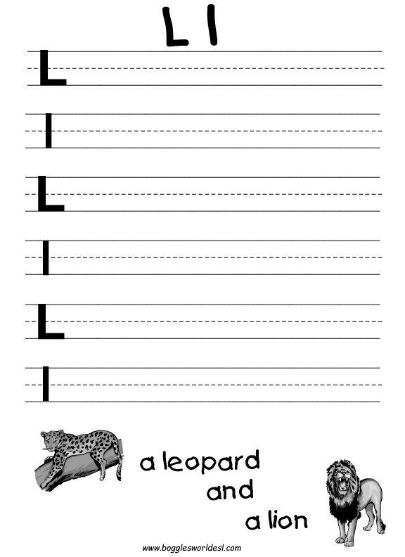 Letter L Alphabet Worksheets