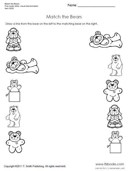 Match The Bears Preschool Worksheet