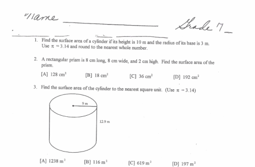 Math Worksheets For 8th Grade