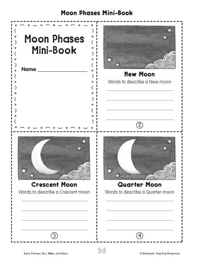 Minibook  Moon Phases