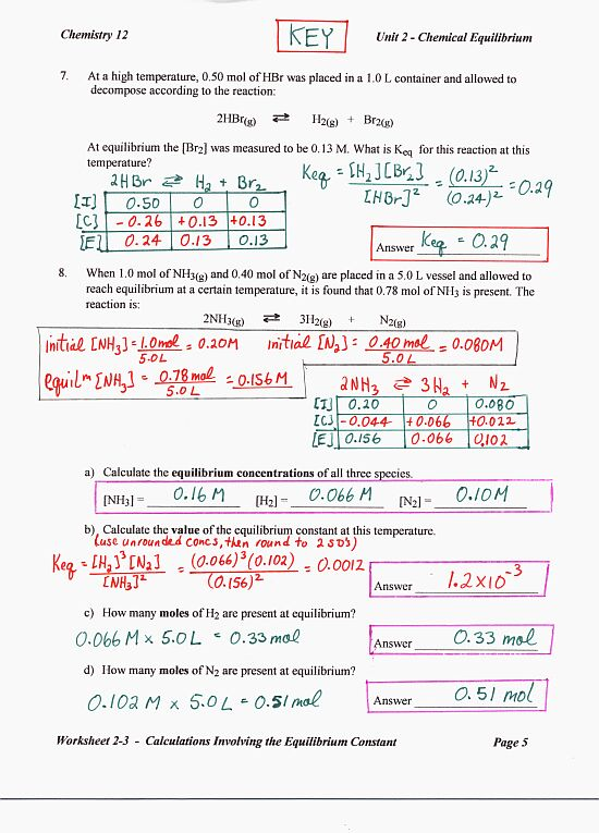 Modeling Chemistry Unit 3 Worksheet 1 Answers Free Worksheets