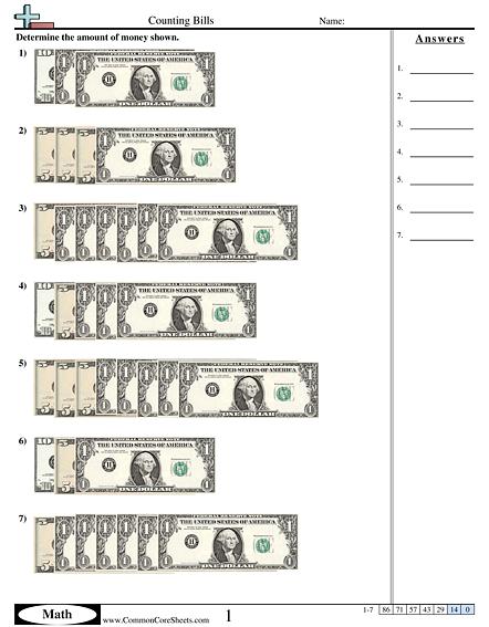 Money Worksheets