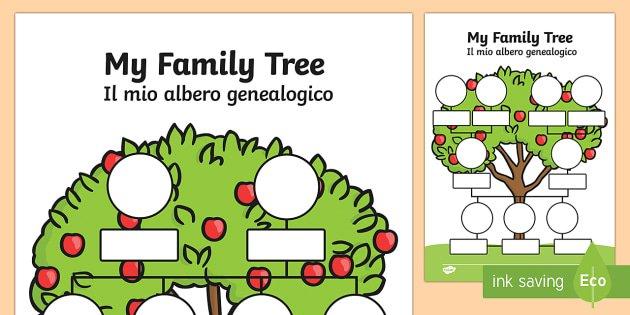 My Family Tree English Italian