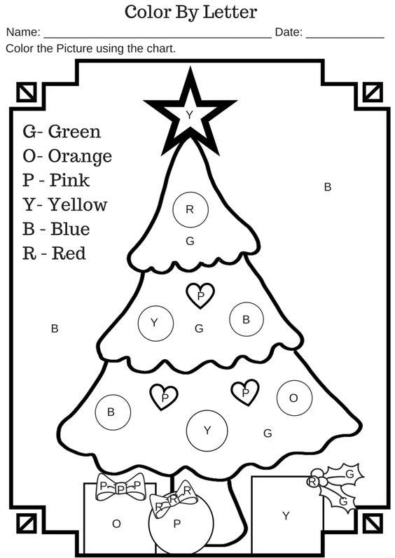 Number Names Worksheets   Preschool Christmas Worksheets Free