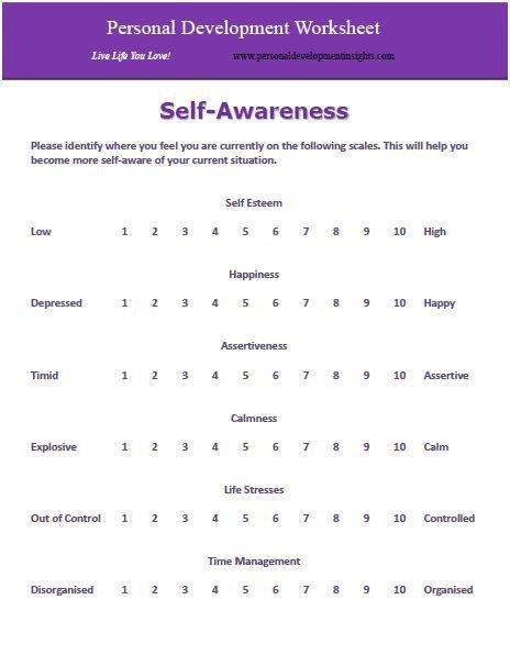 Personal Development Worksheets
