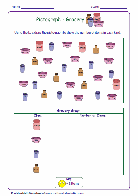Pictograph Worksheets
