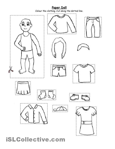 Preschool Winter Clothes Worksheets