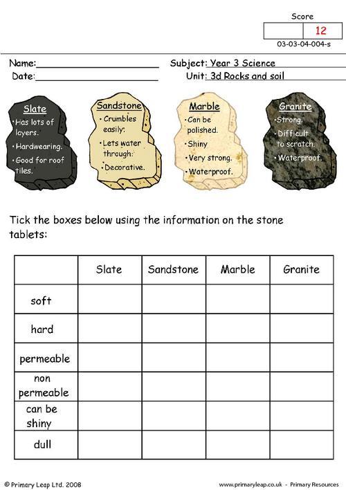 Properties Of Rocks Worksheet Free Worksheets Library