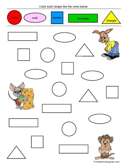 Shapes & Colors Worksheets Fun Pack – Home Education Resources