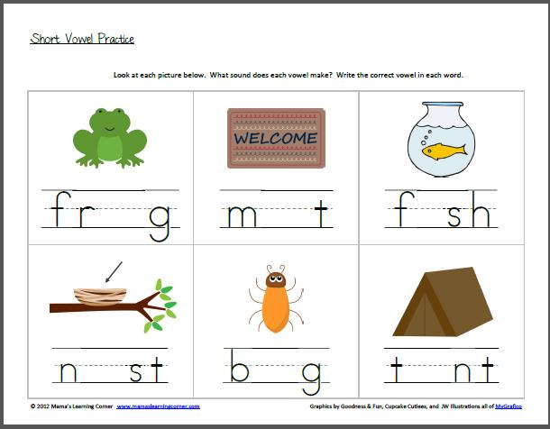 Short Vowel Worksheets For Kindergarten Free Worksheets Library
