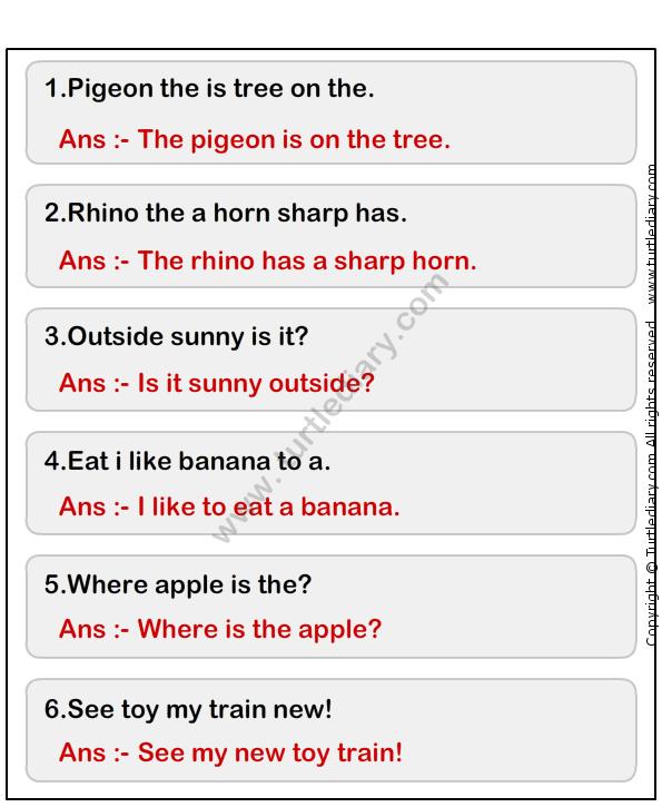 Simple Sentence Worksheet10