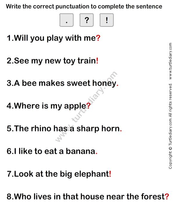 Simple Sentence Worksheet8