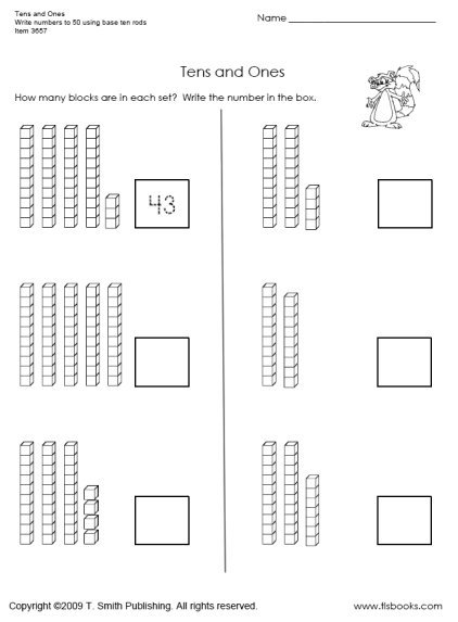 Tens And Ones Worksheet 1