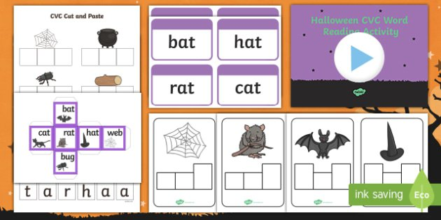 Themed Cvc Words Activity Pack