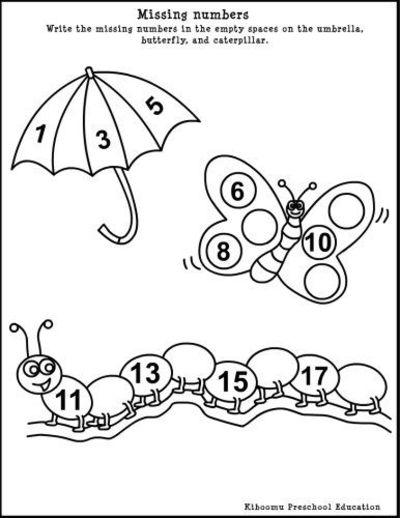 Worksheet For Preschool